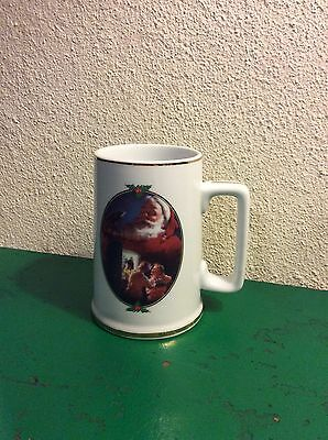 "Coca-Cola Santa Christmas Coke Mug Ceramic 1996 Collector Edition ""For Santa"""