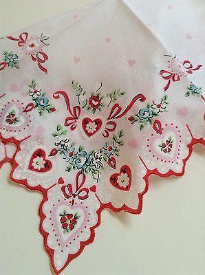 Gorgeous New Valentine Handkerchief - Hankie!