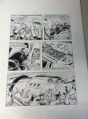 BUCK ROGERS #18 pg 20, original comic book art SPACE CREATURES ATTACK SPACE SHIP