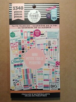 New Me My Big Ideas The Happy Planner Girl Faith Warrior Mini Sticker Book