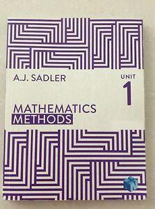 Mathematics Methods Unit 1 Textbook + Digital Code Rivervale Belmont Area Preview
