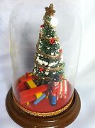 Vintage Diorama Glass Ornament