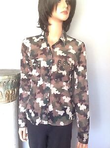Sheer Camouflage Blouse 83