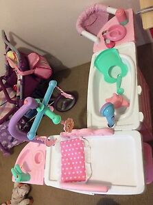 Kids toys - twin doll pram, doll carrier, nursery set Annerley Brisbane South West Preview