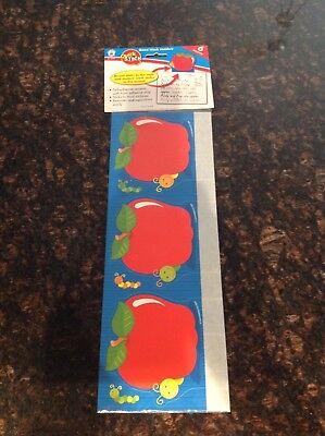 NIP Carson-Dellosa 6 Quick Stick Apple Good Work Holders 5