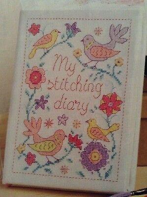 Bird Song Stitching Diary counted cross stitch magazine pattern, Aida, floss lot
