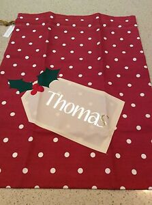 PERSONALISED CHRISTMAS BAG - THOMAS - BRAND NEW - UNWANTED GIFT Nunawading Whitehorse Area Preview