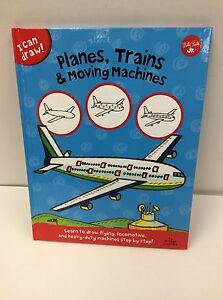 Book I Can Draw Planes Trains & Moving Machines