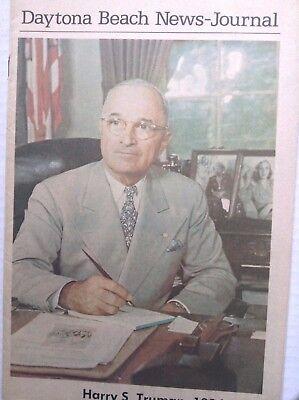 Daytona Beach News Journal Magazine Harry S  Truman 1972 092017Nonrh