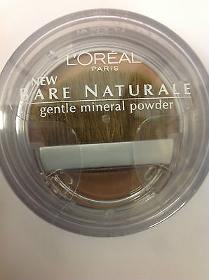 L'Oreal Bare Naturale Gentle Mineral Face Powder Classic Tan #422 New.