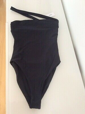 JADE swim black halo one piece swimsuit size s 6/8 new with tags made in LA