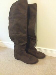 Ladies 7w Brown Boots