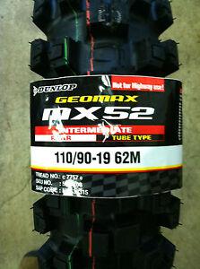 NEW !!! DUNLOP GEOMAX MX52 MX 52 110/90-19 110 90 19