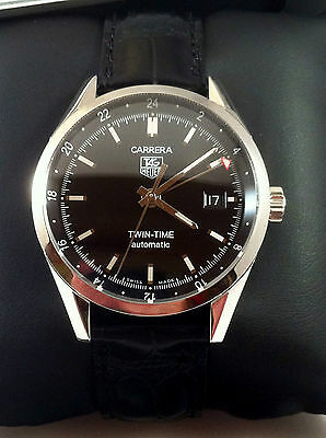 Tag Heuer Carrera Calibre 7 Twin Time WV211Mens  Automatic Watch Excellent Cond.