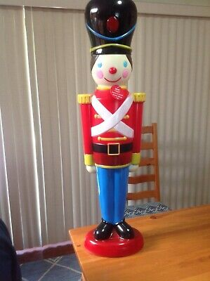 "RARE NEW 42"" TALL CLASSICAL LIGHTED TOY SOLDIER BLOWMOLD BY ASHLAND CHRISTMAS"