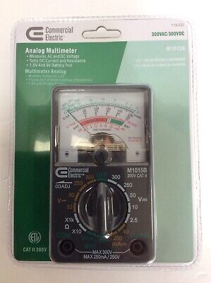 New Commercial Electric Analogue Multimeter Tests Acdc Voltage Sealed Package