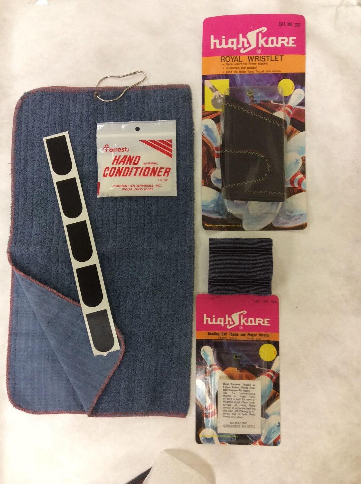 6 ps Bowling Stocking Stuffer KIT tape,Towel,Wristlets,Sweat