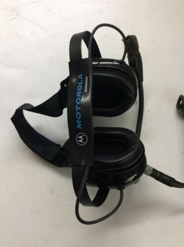 MOTOROLA HEAVY DUTY DUAL EAR HEADSET BDN6645A NEW OUT OF BOX