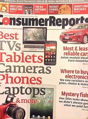 Consumer Reports Magazine Best TVs & Tablets December 2011