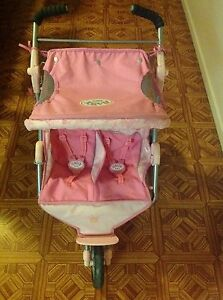 Baby Born twin Dolls pram Morayfield Caboolture Area Preview