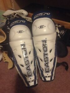 10 inch easton shin pads