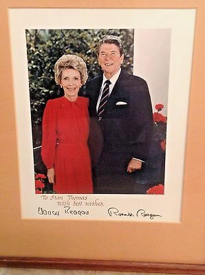 Ronald & Nancy Reagan signed photo
