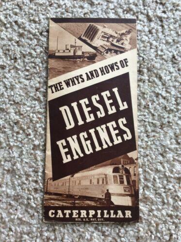 1937  Caterpillar diesel engines,  original sales handout.