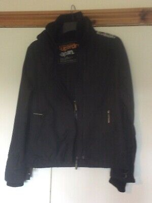 Child's black  Superdry the windcheater jacket size large. Used (Superdry Childrens)
