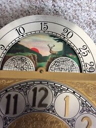 Grandfather Moon Face Clock Dial From The Late 70`s For Urgos Movement