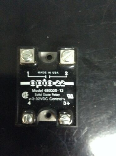 OPTO 22 480D25-12 SOLID STATE RELAY