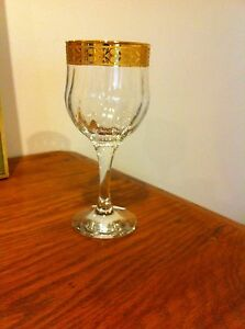 Classic gold wine glasses Rathmines Lake Macquarie Area Preview