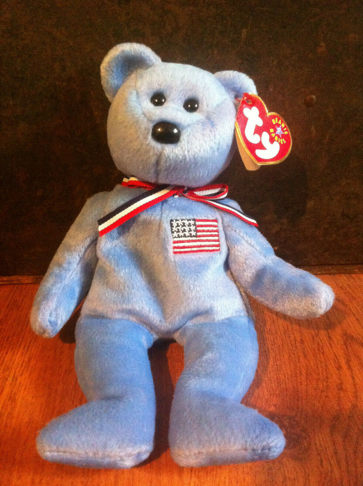 TY Beanie Babies 2001 America blue Bear Red Cross Sept. 11, 2001 Orig. - $10.00