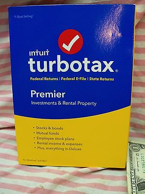 2016 New Intuit Turbotax Premier Investments   Rental Property Federal State Usa