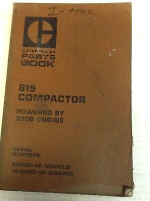 Caterpillar Cat 815 Compactor - 3306 Engine - Parts Book