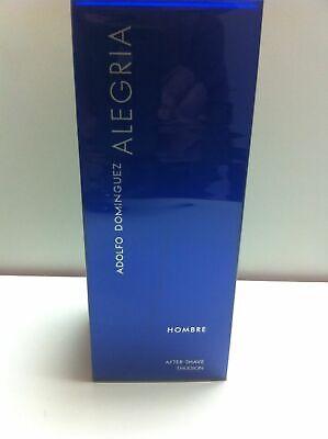 100ml Adolfo Dominguez Alegria Aftershave Emulsion Hombre 3.3 oz