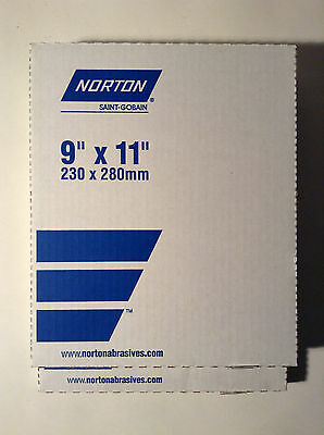 Norton Saint-gobain 39360 Waterproof Paper 9 X 11 600 Grit 100 Sheets