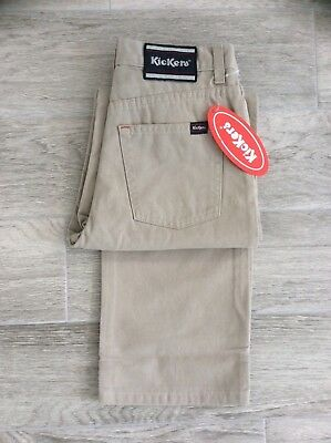 BOYS / KIDS KICKERS CASUAL SOFT BRUSHED COTTON STONE SMART PANTS 26 = AGE 12 (Boys Brushed Cotton Pants)