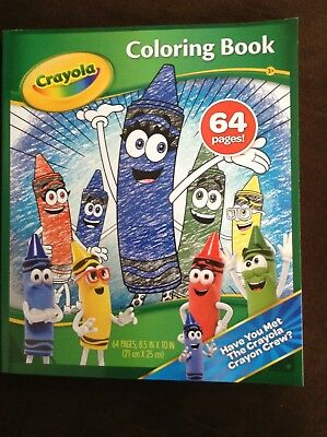 CRAYOLA CRAYON CREW COLORING BOOK 2017***BRAND NEW***64 PAGES