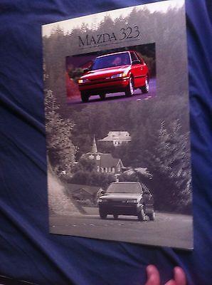 1990 Mazda 323 Hatchback USA Market Original Color Brochure Catalog Prospekt