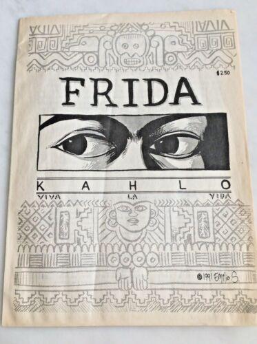 1991 Vintage Frida Kahlo VIVA LA VIDA Comic Book signed Emilio Sortero Artist