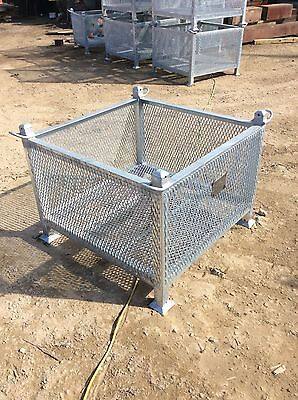 Heavy Duty Stackable Storage Bin W Lifting Lugs 3500 Lb Safe Working Load