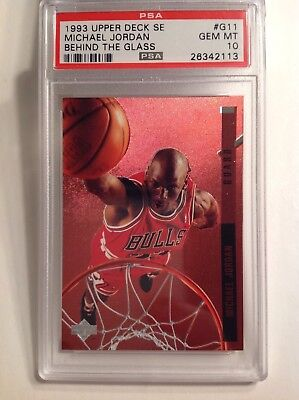 a979f93c354511 MICHAEL JORDAN 1993 94 UD SE Behind the Glass  G11 PSA 10 Gm Mint! Low Pop!!