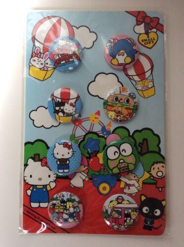 Sanrio Loungefly Hello Kitty Keroppi Tuxedo Sam 8 Button Pack Set Rare