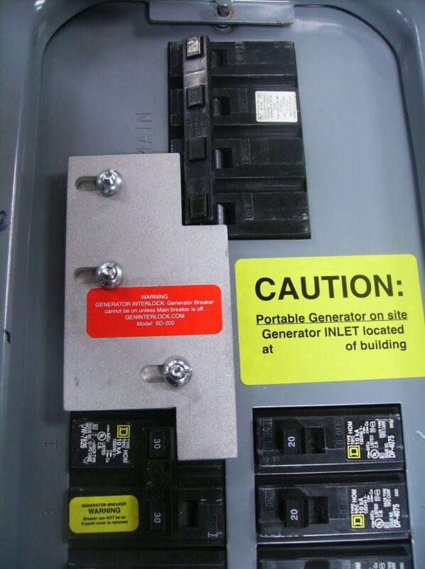 SD-H200A Square D Generator interlock kit 150, 200 Amp Homeline panel LISTED