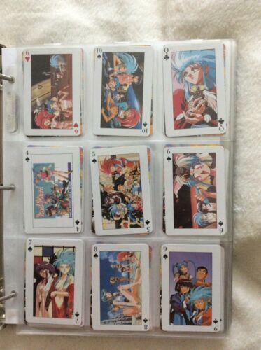 Standard playing card deck with Tenchi Muyo! Art