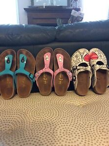 3 pair Birkinstock shoes girls 34 /ladies 3