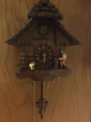 Adolf Herr Cuckoo Clock The Busy Wood Chopper 2003
