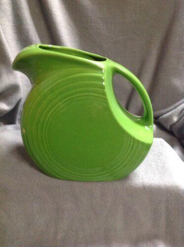 Fiestaware Disc Pitcher Shamrock Green Large Homer Laughlin Pitcher- BB