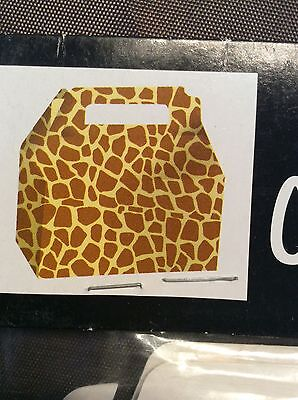 Animal Print Giraffe Party Supplies Cookie Box with Handle
