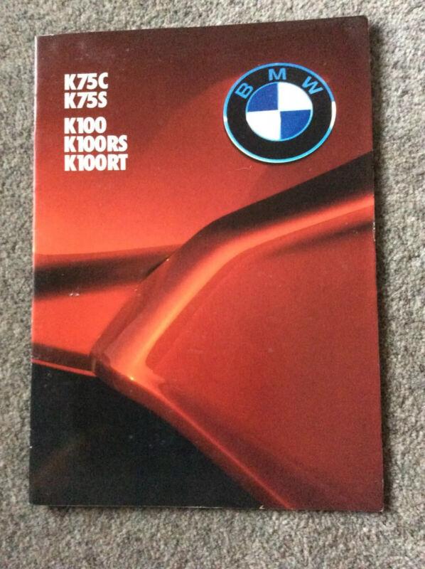 BMW K75 c/s K100/RS/RT sales brochure